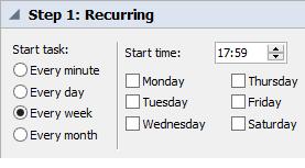 2_Set the schedule