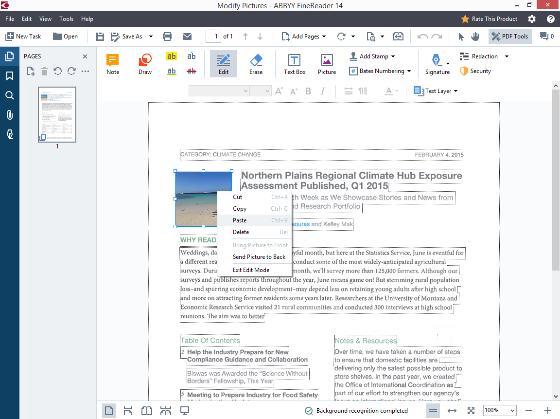 New in FineReader 14 - PDF Editing Tools, OCR for Document