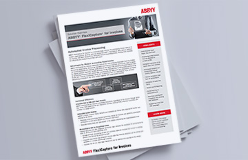 ABBYY FlexiCapture for Invoices brochure