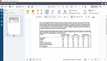How to update tables in PDF