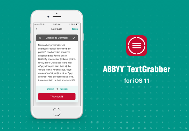TextGrabber iOS with iOS 11 features