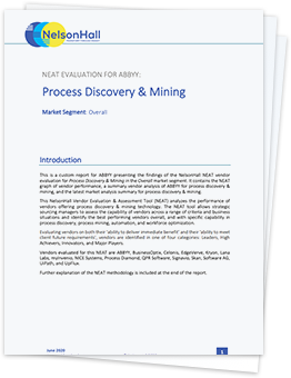 NelsonHall NEAT Assessment for Process Discovery and Mining 262X340