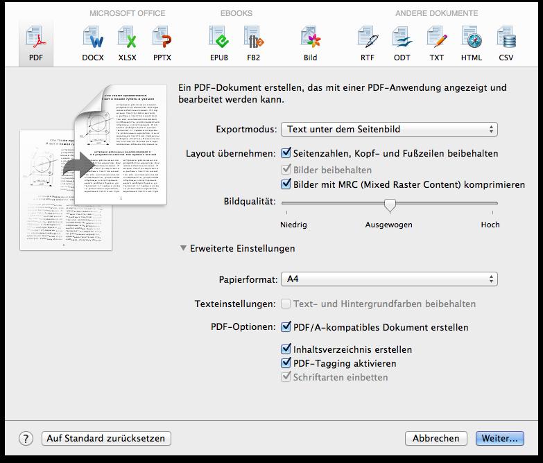 Erstellen Sie durchsuchbare PDFs für die Archivierung