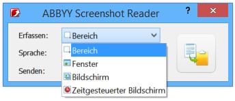Wählen Sie die Art des Screenshots, den Sie aufnehmen möchten